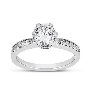 2.02 ct round diamonds solitaire with accents ring